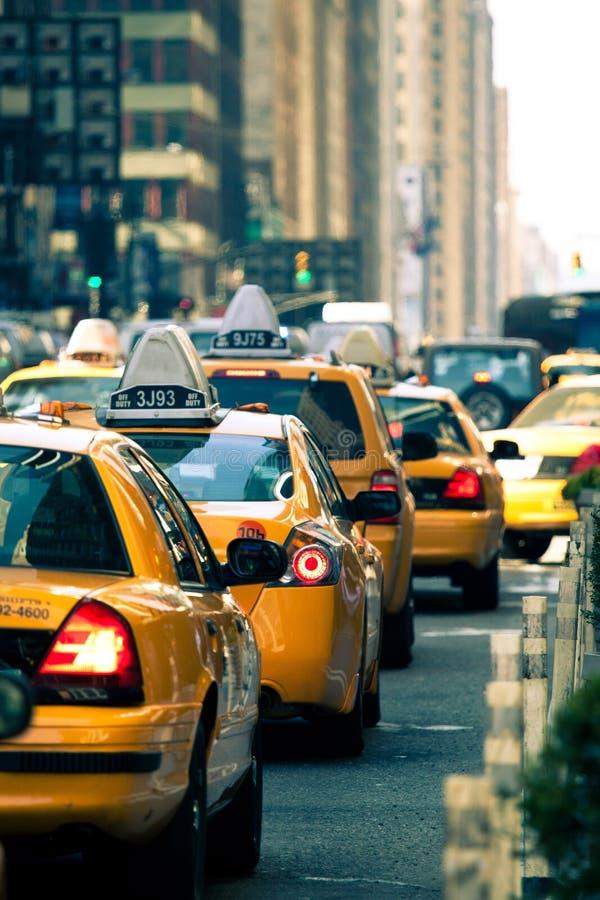 Taxis in de Stad van New York royalty-vrije stock afbeeldingen