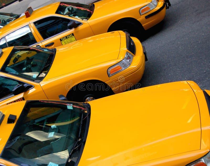 Taxis de taxi de New York images libres de droits