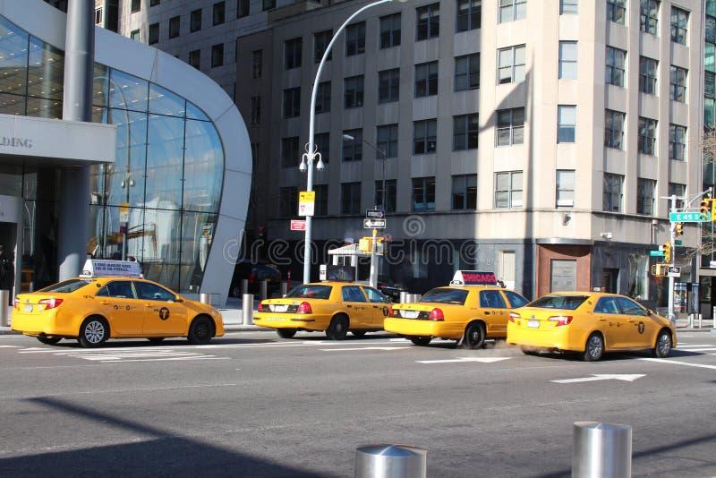 Taxis en New York City, los E.E.U.U. fotografía de archivo libre de regalías