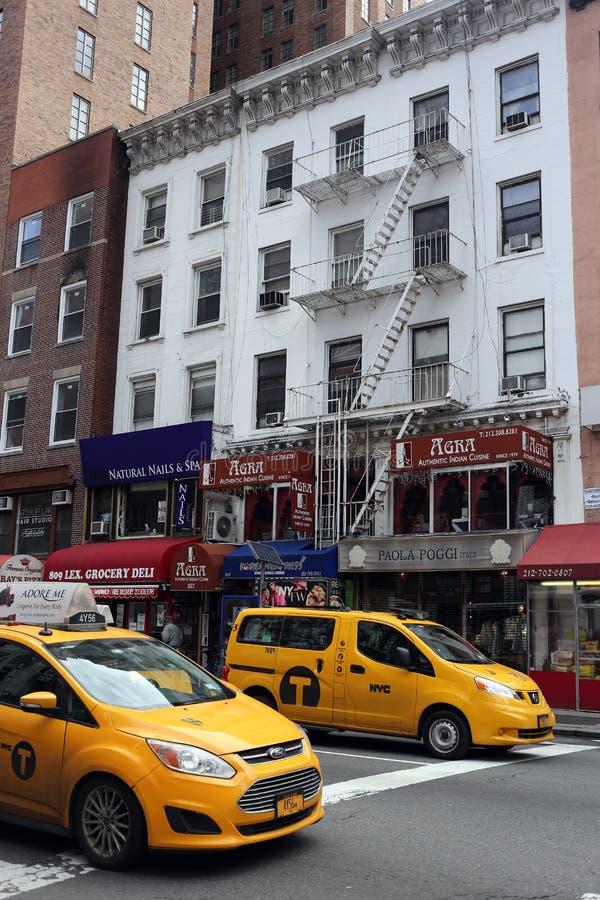 Taxis en Nueva York imagenes de archivo