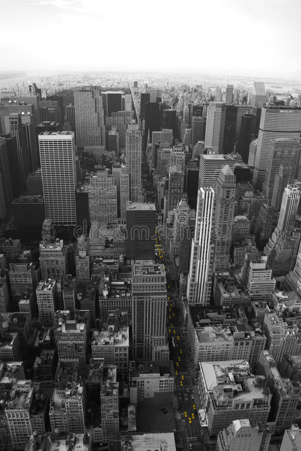 Taxis jaunes de New York image libre de droits