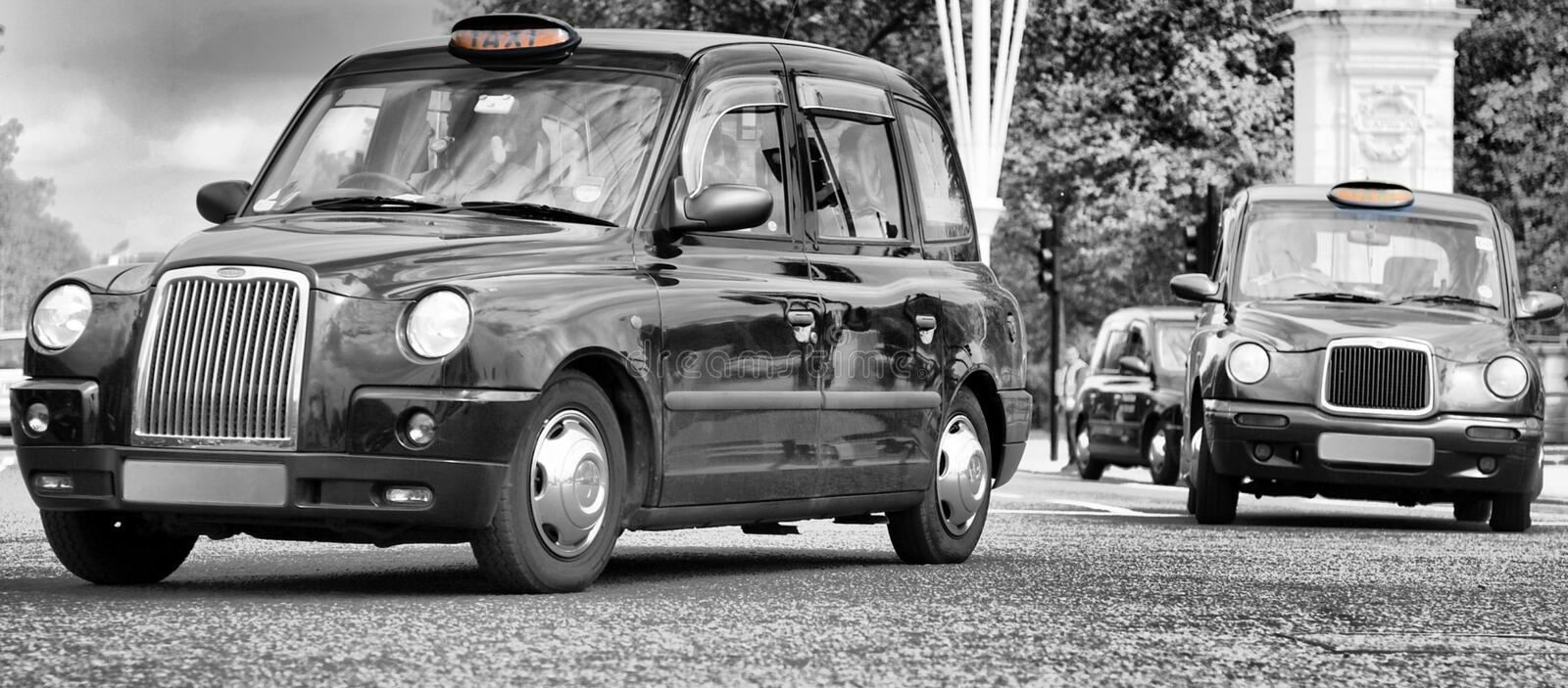 Taxis in Londen stad royalty-vrije stock foto