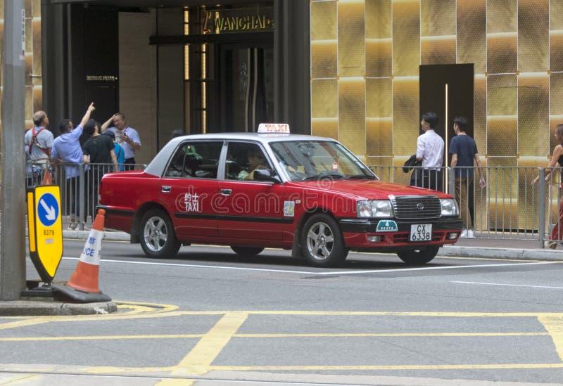 Taxis sur la rue en Hong Kong images libres de droits