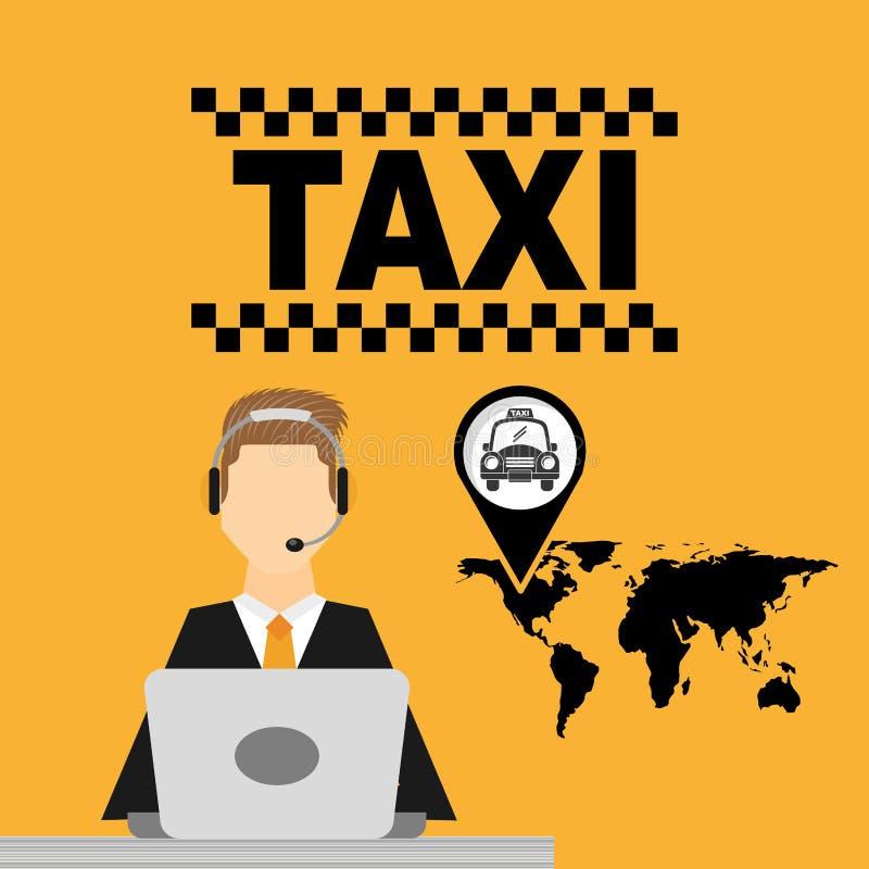 Taxiservicedesign stock illustrationer