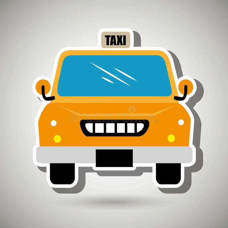 Taxiservicedesign vektor illustrationer