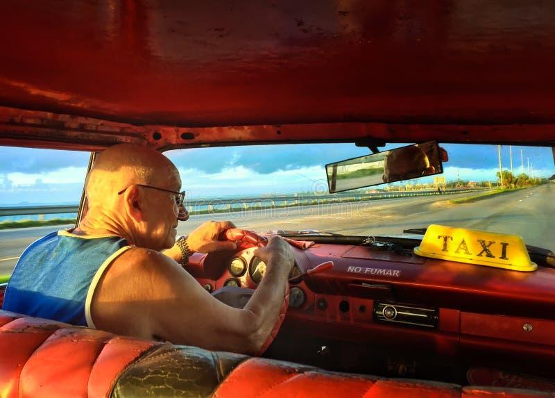 Taxista cubano fotografía de archivo libre de regalías
