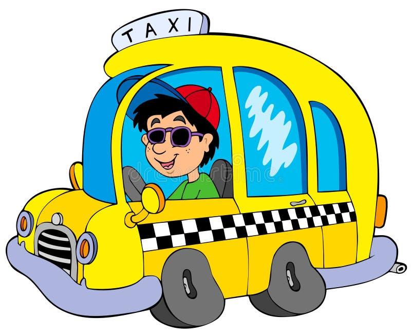 Taxista de la historieta libre illustration