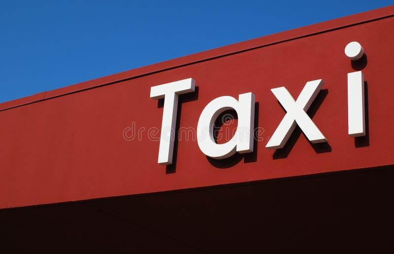 Taxistandplaats stock fotografie