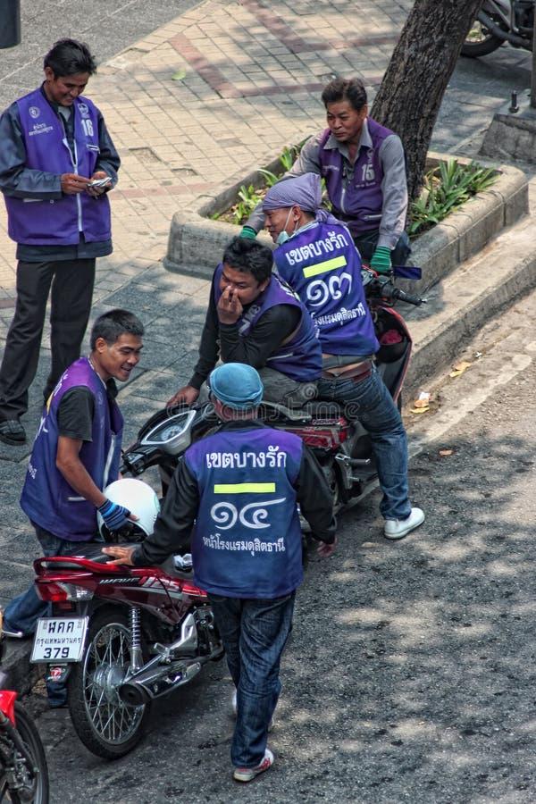 Taxistas do velomotor de Banguecoque imagem de stock
