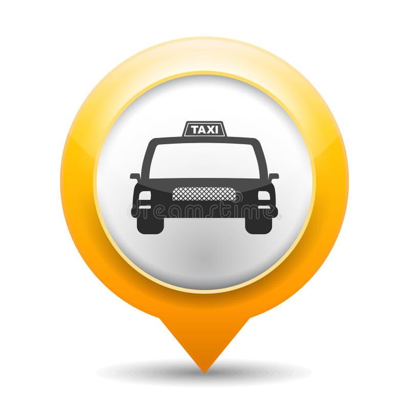 Taxisymbol stock illustrationer