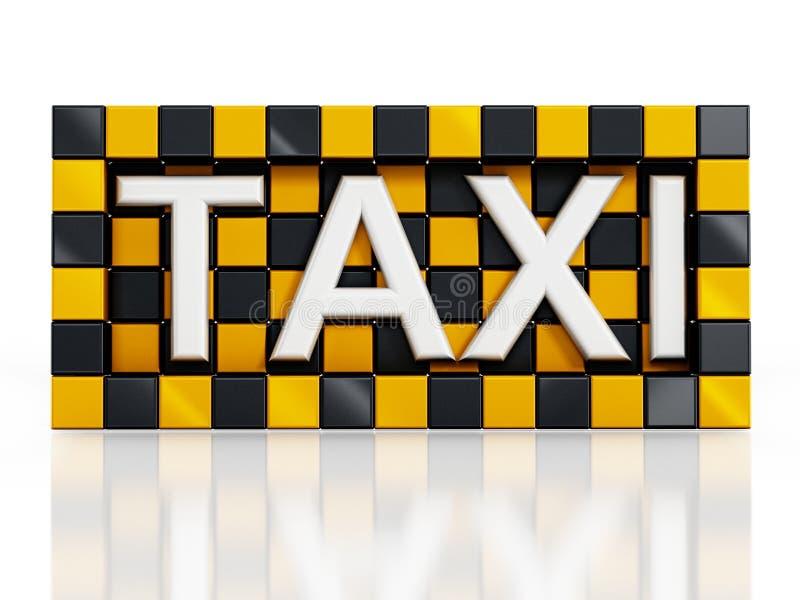 Taxisymbol vektor illustrationer