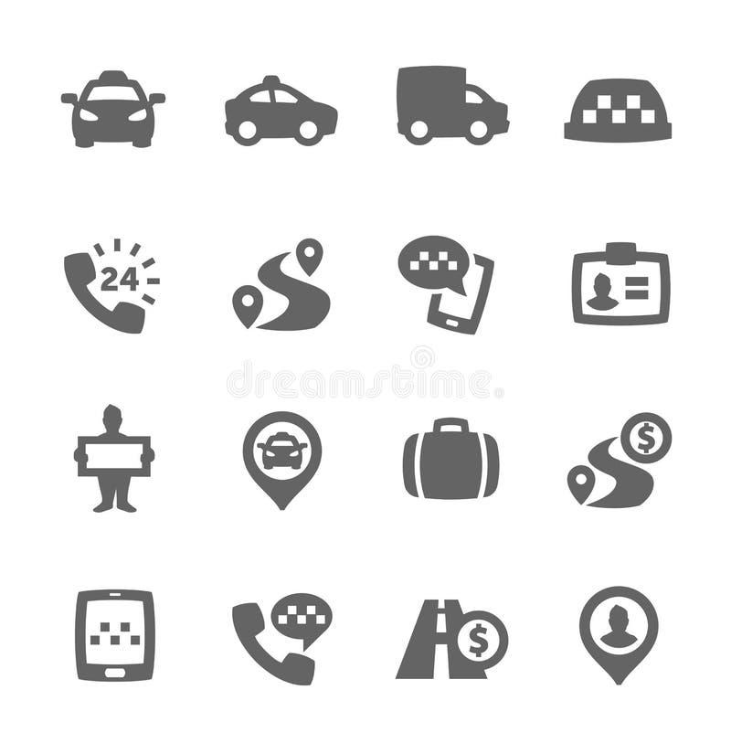 Taxisymboler stock illustrationer