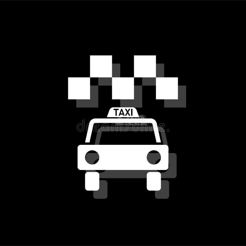 Taxisymbolslägenhet stock illustrationer