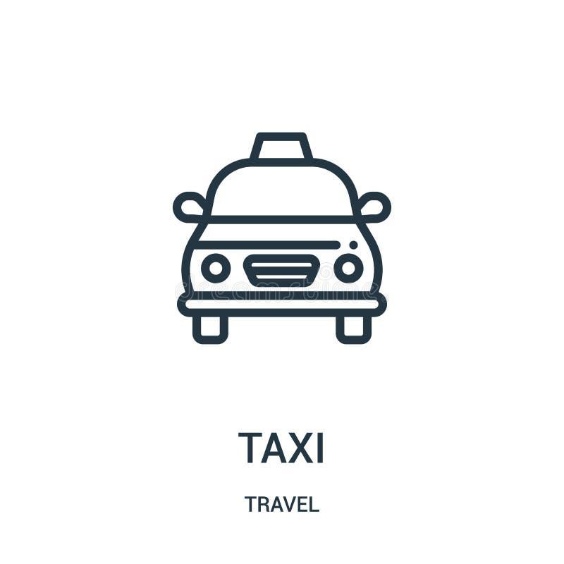 taxisymbolsvektor från loppsamling Tunn linje illustration för vektor för taxiöversiktssymbol r vektor illustrationer