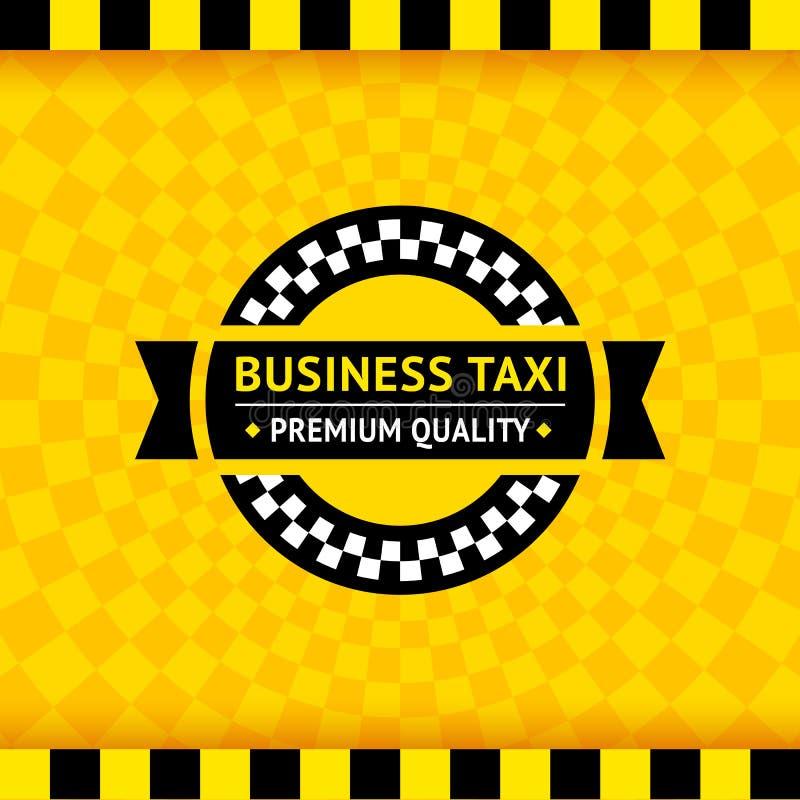 Taxisymbool met geruite achtergrond - 01 royalty-vrije illustratie