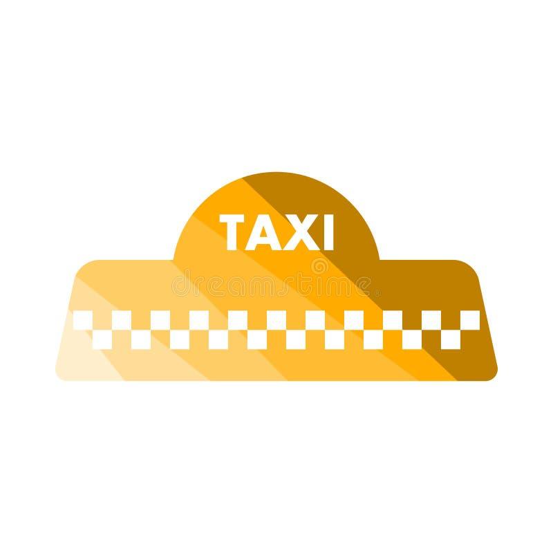 Taxitaksymbol stock illustrationer