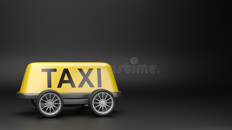 Taxitaktecken på hjul med Copyspace vektor illustrationer
