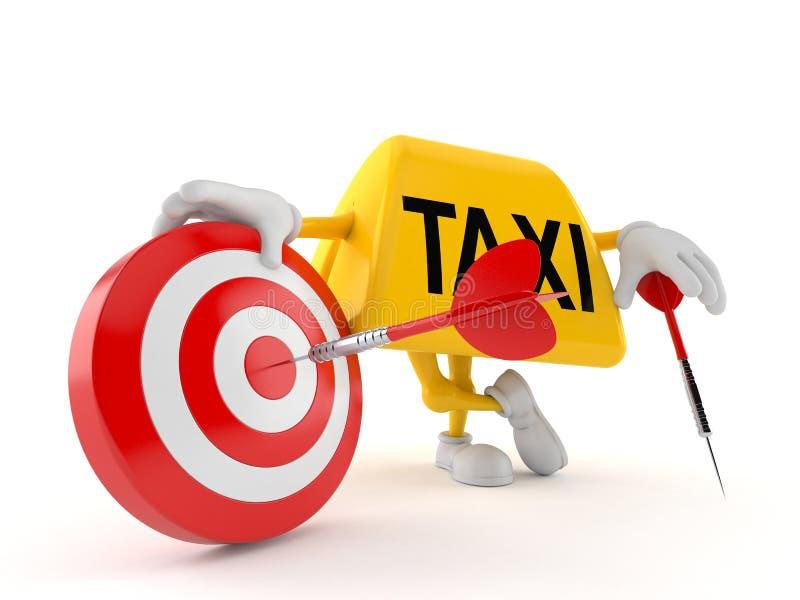 Taxitecken med bullseyen royaltyfri illustrationer