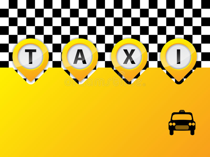 Taxitext i pekare stock illustrationer