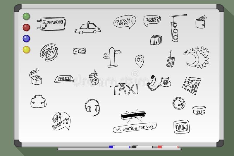 Taxitrans.uppsättning vektor illustrationer
