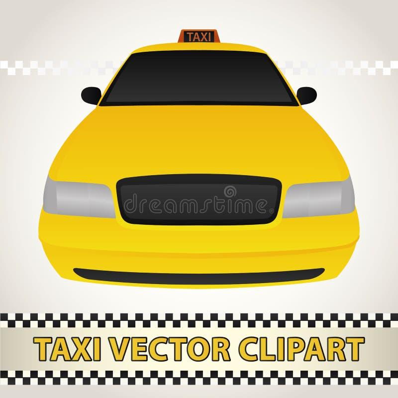Taxivektor Clipart royaltyfri fotografi