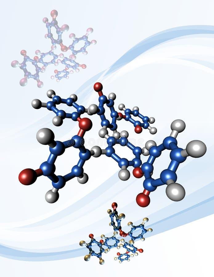 taxol för kemoterapidrogmolekylar royaltyfri illustrationer