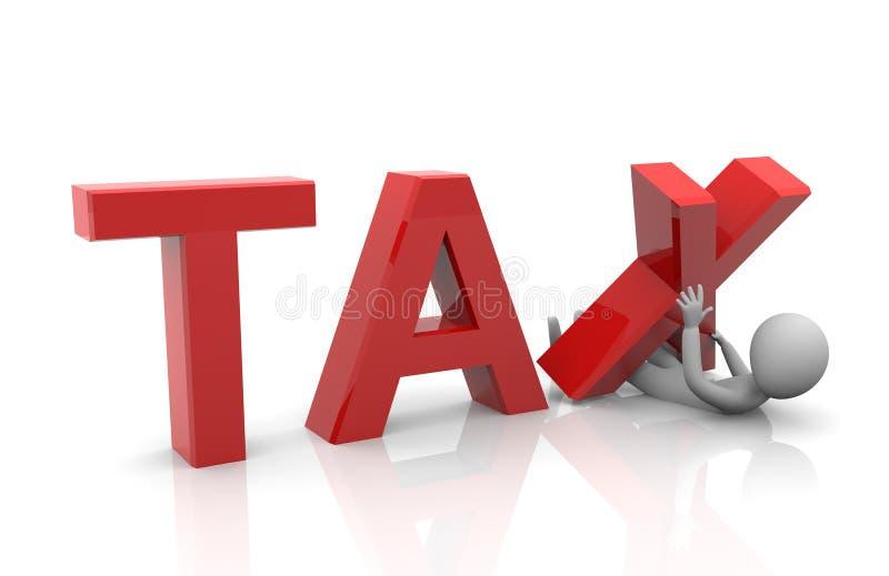 Taxpayer under heavy tax burden vector illustration