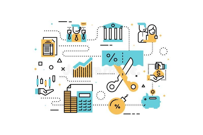 Taxs und Finanzillustration lizenzfreie abbildung