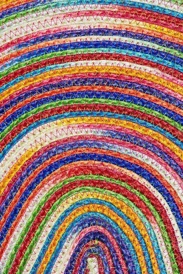 Taxtures et fond tissés colorés de couverture de laine de sisal image libre de droits