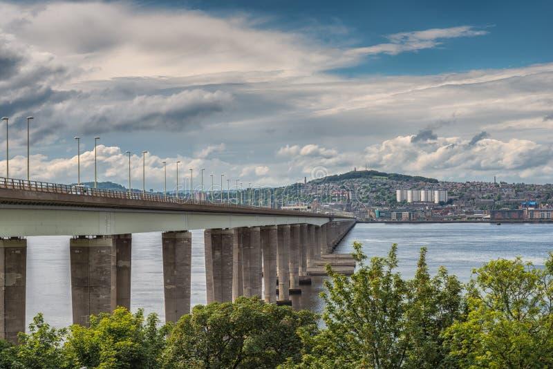 Tay Bridge Dundee Scotland stock afbeelding