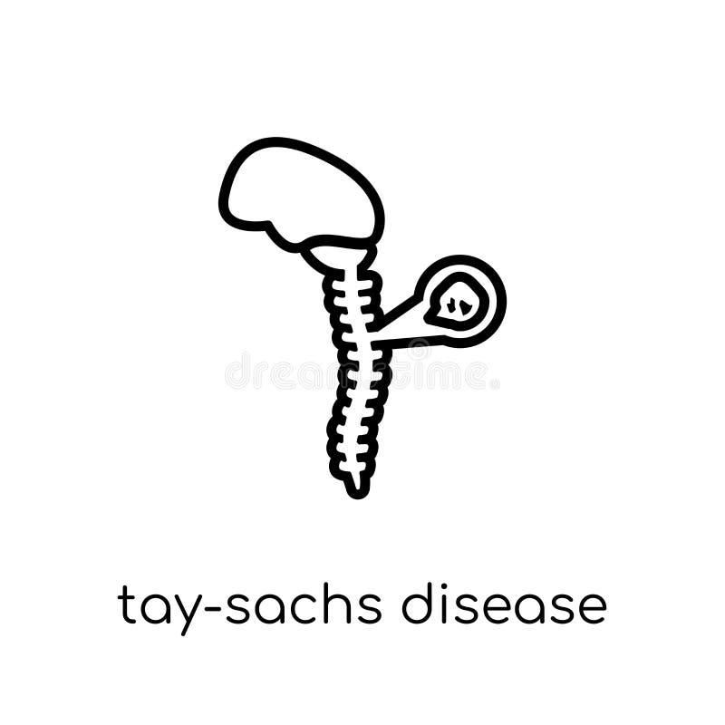 Tay-Sachs-Syndrom-Ikone Modischer moderner flacher linearer Vektor Tay-Beutel vektor abbildung