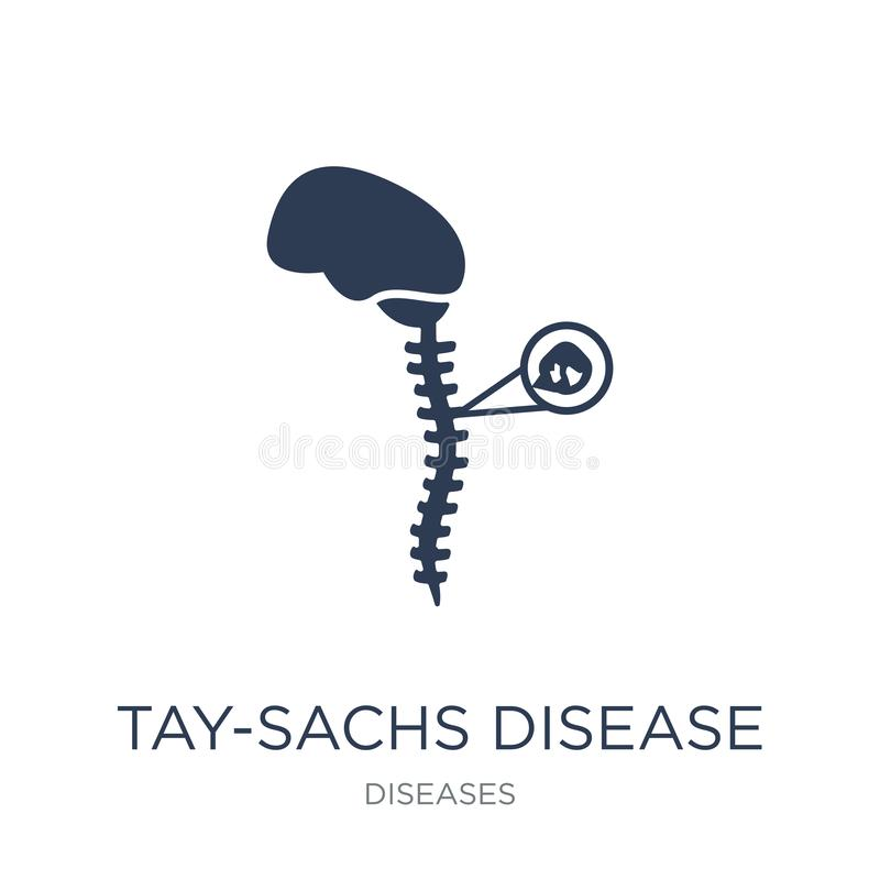Tay-Sachs-Syndrom-Ikone Modisches flaches Vektor Tay-Sachs-Syndrom ico vektor abbildung