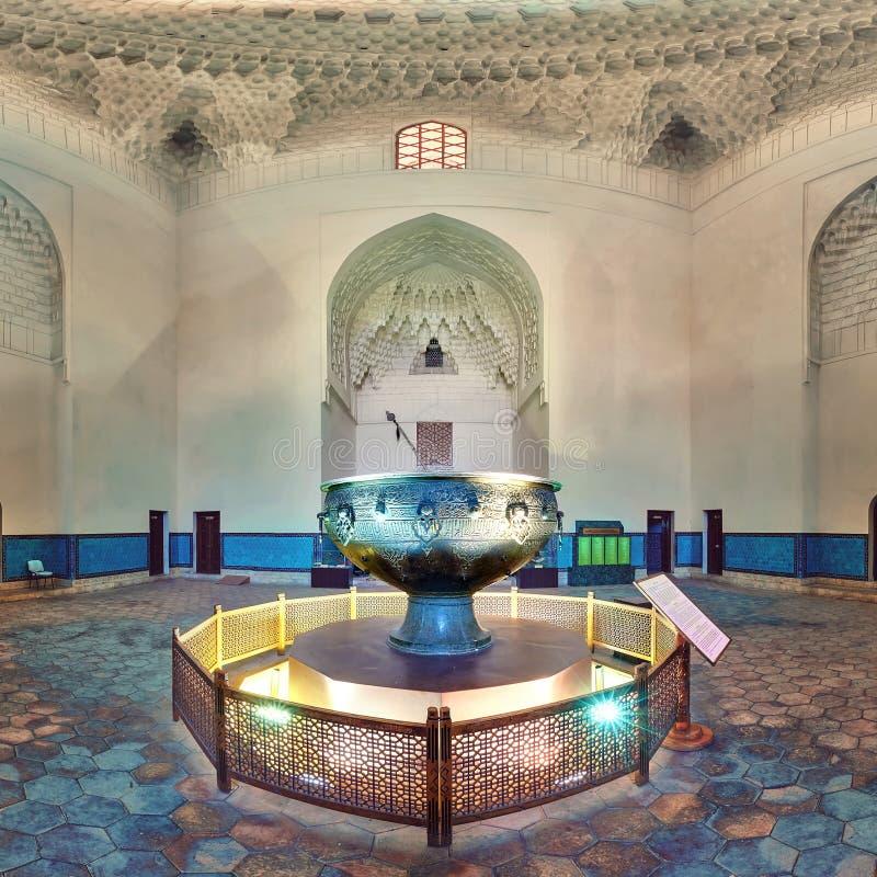 Taykazan mausoleum av Khoja Ahmed Yasawi, Turkestan, Kasakhstan royaltyfri fotografi