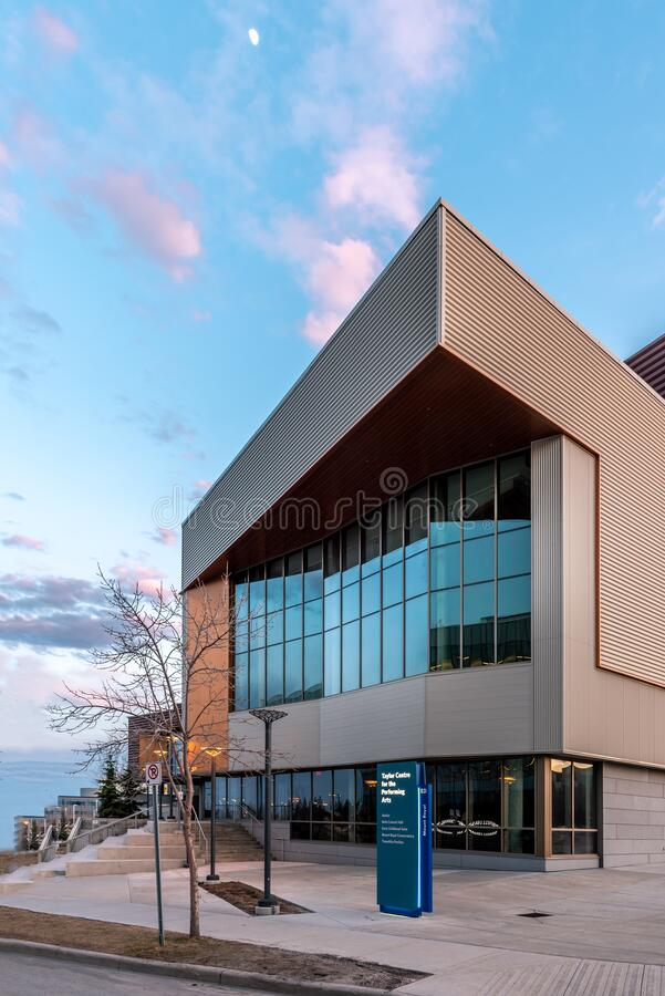 Taylor Center for the Performing Arts, Universidade do Monte Real imagem de stock royalty free