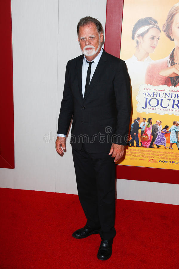 Taylor Hackford. NEW YORK-AUG 4: Director Taylor Hackford attends The Hundred-Foot Journey premiere at the Ziegfeld Theatre on August 4, 2014 in New York City stock images
