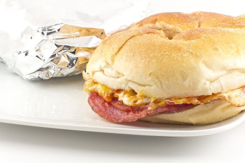Taylor Ham Breakfast Sandwich fotografia de stock royalty free