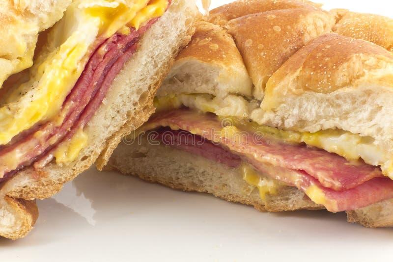 Taylor Ham Breakfast Sandwich fotografia de stock