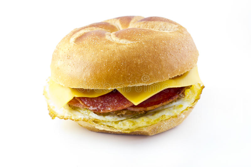 Taylor Ham Breakfast Sandwich fotografia de stock royalty free