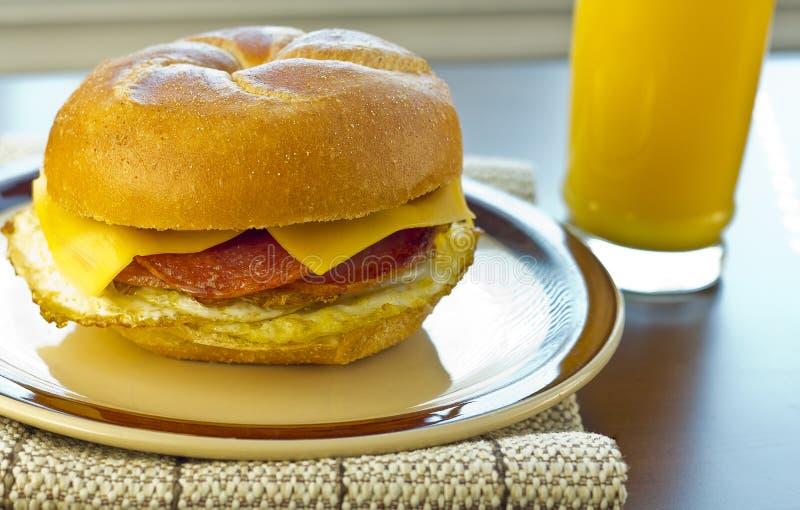 Taylor Ham Breakfast Sandwich fotos de stock