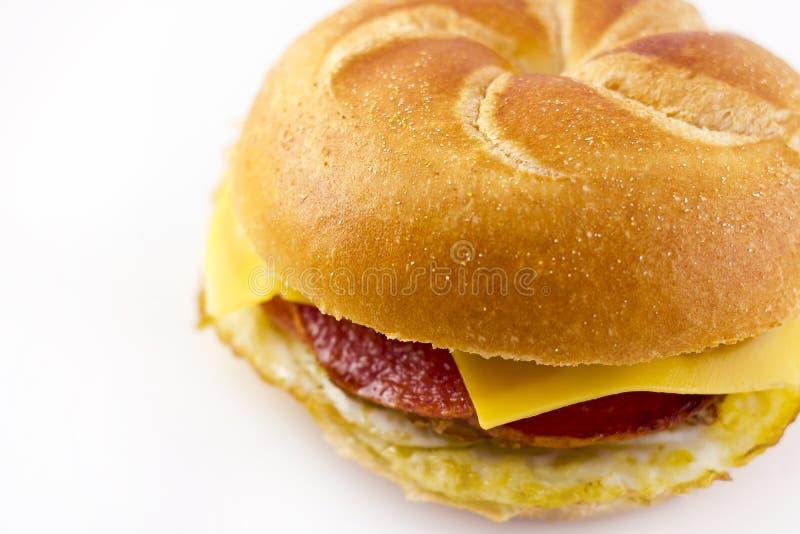 Taylor Ham Breakfast Sandwich foto de stock royalty free