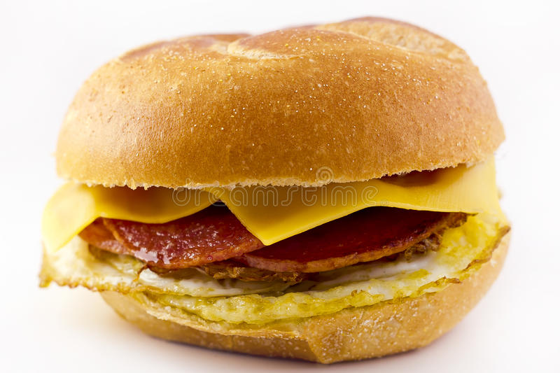 Taylor Ham Breakfast Sandwich fotos de stock