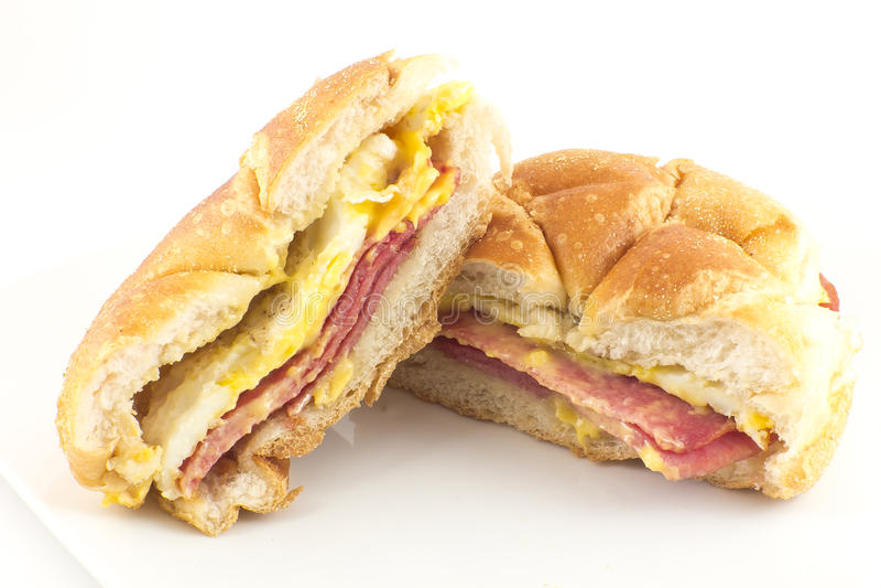 Taylor Ham Breakfast Sandwich royalty free stock photos