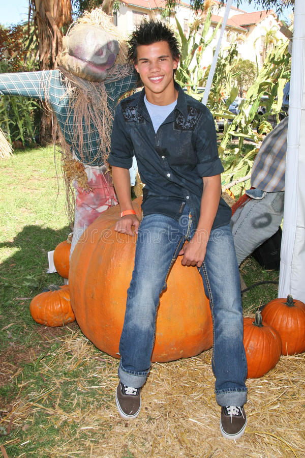 Taylor Lautner fotografia stock