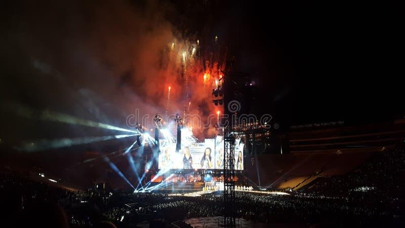 Taylor Swift Concert royaltyfri bild