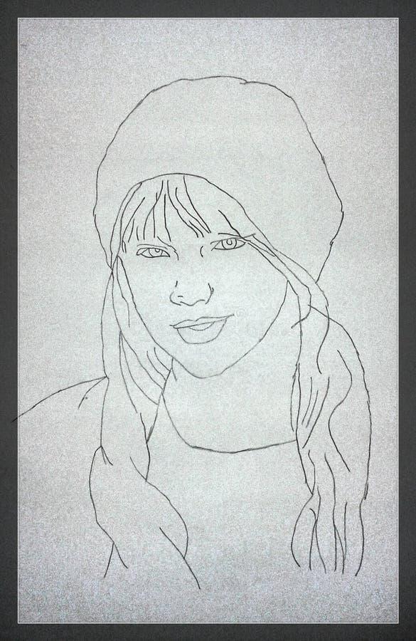 Taylor Swift Sketch royaltyfria foton