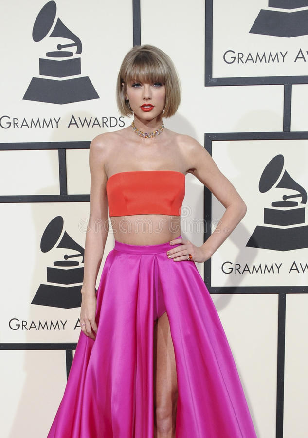 Taylor Swift. At the 58th GRAMMY Awards held at the Staples Center in Los Angeles, USA on February 15, 2016 stock photography