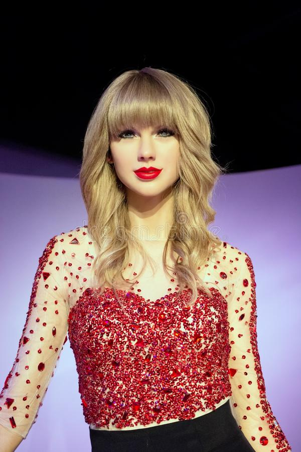 Taylor Swift Wax Figure photographie stock