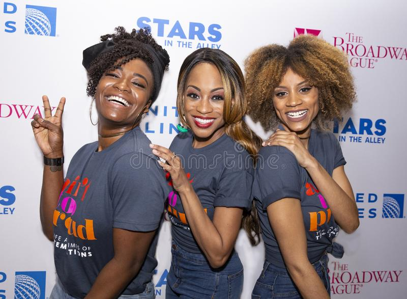 Taylor Symone Jackson, Nasia Thomas, & Candice Marie Woods at 2019 Stars in the Alley royalty free stock photos