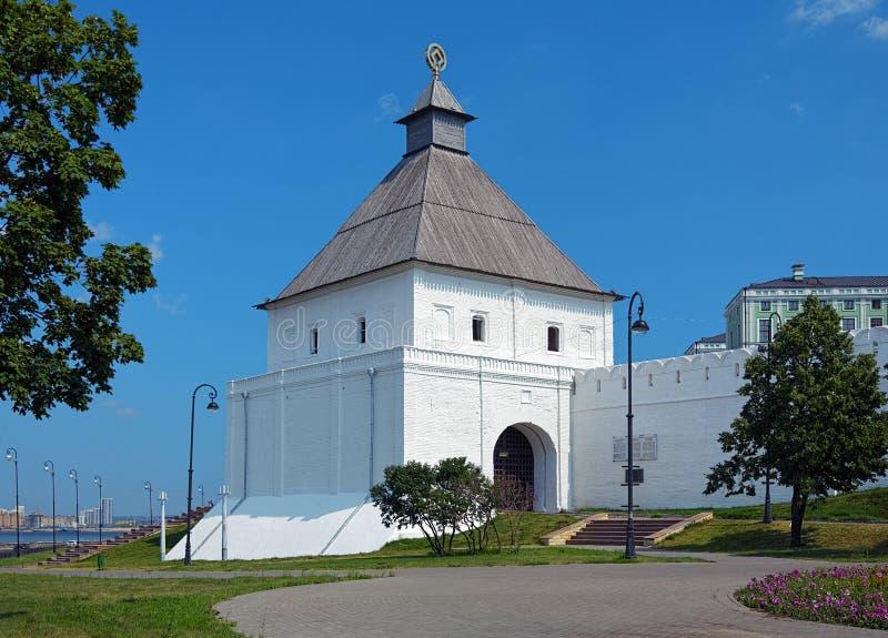 Taynitskaya wierza Kazan Kremlin, Rosja zdjęcie royalty free