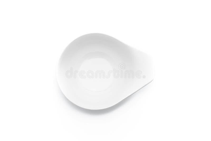 Tazón de fuente de cerámica blanco foto de archivo libre de regalías